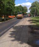 Проведены работы по ремонту дорожного полотна по улице Красной